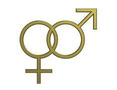 Male and female seks symbols - stock illustration
