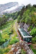 Bergen funicular Stock Photos