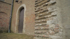 Old Church walls Stock Footage