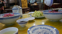 4k Ultra HD time lapse video on eating Beijing food, China Stock Footage
