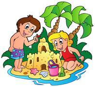 Summer theme image  Stock Illustration