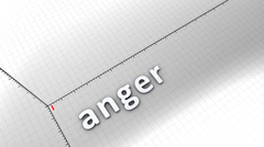 Growing chart graphic animation, Anger. - stock footage