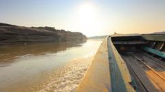 Cruise ship on the Mekong Stock Footage