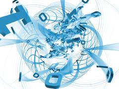 Digital Breakthrough Stock Illustration