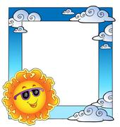 Frame with summertime theme  Stock Illustration