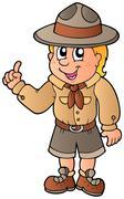 Advising scout boy - stock illustration