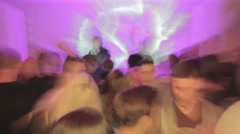 Nightclub from drunk man's point of view, people dance, drink, click for HD Stock Footage