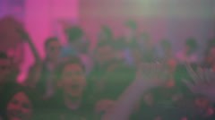 Clubbers waving hands to sound of music, nightclub atmosphere, click for HD - stock footage