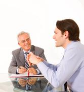 two men during a job interview - stock photo