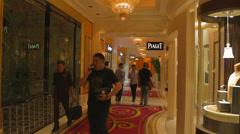 The lobby at the wynn encore macau Stock Footage