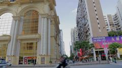 view across the MGM macau - stock footage