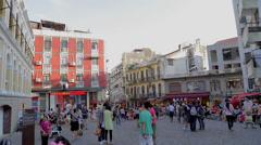 Street near St Pauls - Senado square Stock Footage