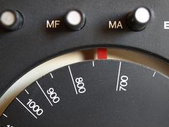 Old AM / FM radio tuner - stock photo