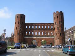 Porte Palatine, Turin - stock photo