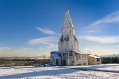 Stock Photo of church of the ascension in kolomenskoye at winter, moscow