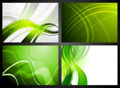 Set of green backdrops Stock Illustration