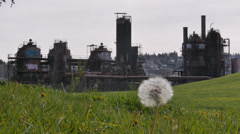 Gasworks Wideshot Stock Footage