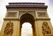 Stock Photo of Arc de Triomphe with White Background