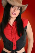 Country Western Cowgirl - stock photo