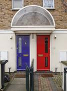 Stock Photo of British Doors