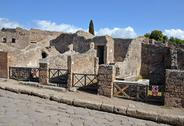 Stock Photo of ruins of houses on the street via stabiana, pompeii