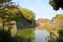 Japanese Castle Moat Stock Photos
