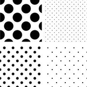 Polka dot seamless pattern set Stock Illustration