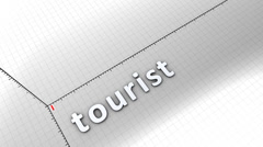 Growing chart graphic animation, Tourist. Stock Footage