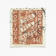 Portugal stamps - stock photo