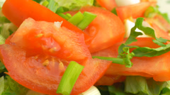 4K Vegetable Healthy Salad Stock Footage