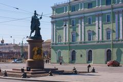Statue of Alexander Suvorov in st Petersburg Stock Photos