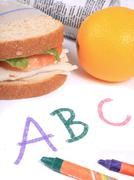 School lunch - stock photo