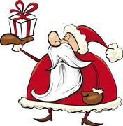 Santa Claus with gift Stock Illustration