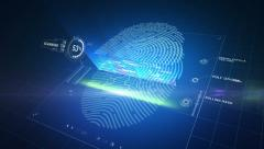 Modern biometric finger print scanner Stock Footage