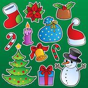 Christmas season theme  - stock illustration