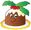 Stock Illustration of Cartoon Christmas pudding