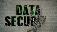 Stock Video Footage of Data Security Binary Code Crumbling Wall