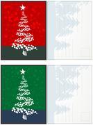 Christmas postcards set Stock Illustration