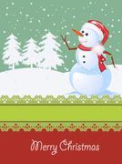 Stock Illustration of Christmas card, winter celebration