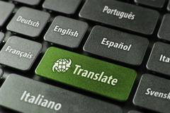 Online translation service concept Stock Photos