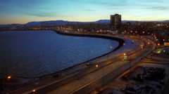 Reykjavik City Stock Footage