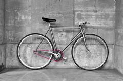 Vintage fixed-gear bicycle - stock photo