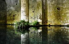 San Gimignano medieval fountain Stock Photos