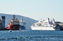 Bergen harbour - stock photo