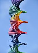 Rainbow colored spiral Stock Photos