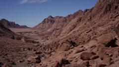 Panoramic view of St. Catherine valley, Sinai peninsula Stock Footage