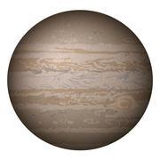 Planet Jupiter, isolated on white Stock Illustration