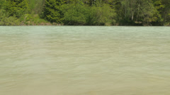 Close up river Isar in Bavaria. Stock Footage