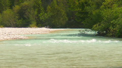 River Isar in Bavaria. Stock Footage
