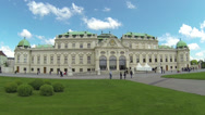 Stock Video Footage of Belvedere in Vienna